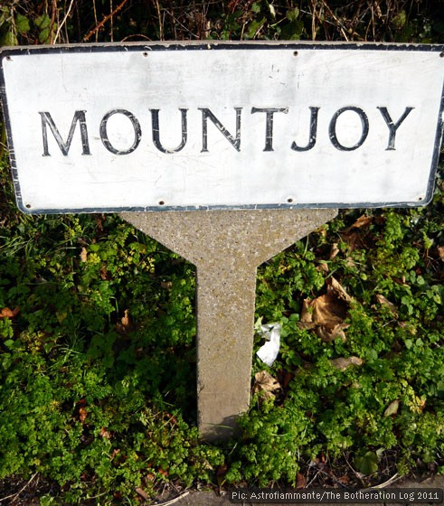 Street sign reading 'Mountjoy'
