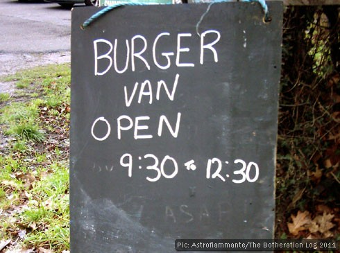 Chalkboard with snack bar opening hours