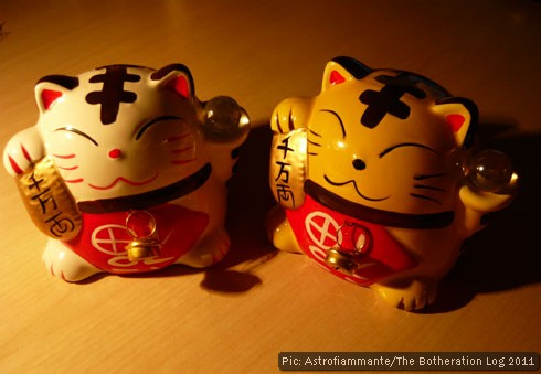 Two 'lucky cat' money boxes