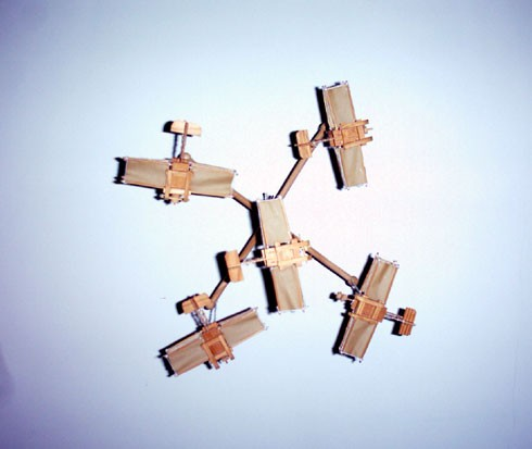 Paper and balsa model aircraft, seen from below