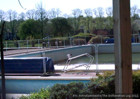 Pre-season cleaning at the local lido