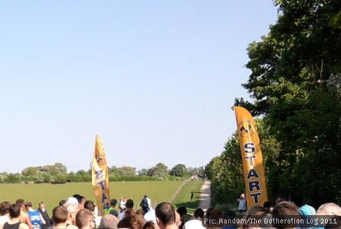 Half-marathon starting line