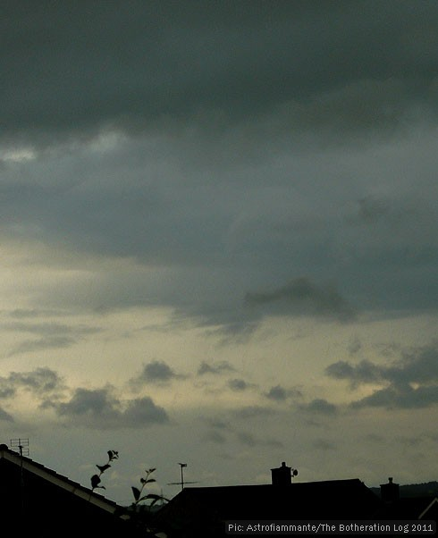 Stormy sky following a long dry period
