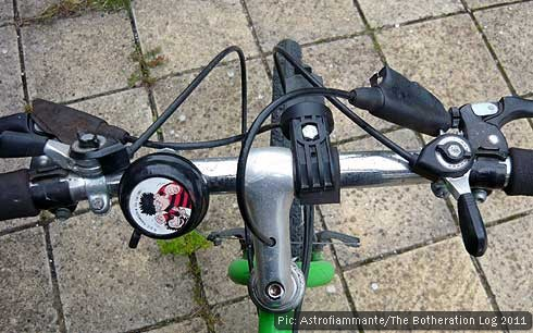 Detail from bicycle handlebars
