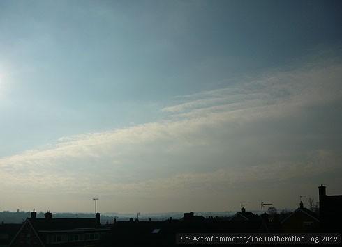 Cirrocumulus clouds against a blue sky