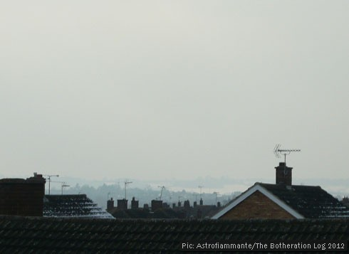 A view of chimney pots