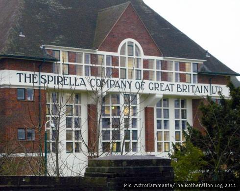 Frontage of Letchworth Garden City's historic Spirella factory